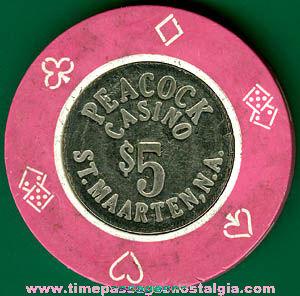 Peacock Casino Five Dollar Token Coin