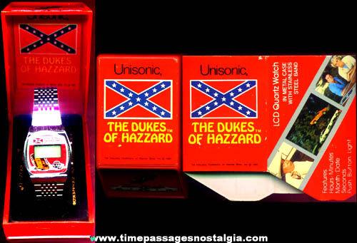 ©1981 Unused Boxed Dukes Of Hazzard Character Digital Watch
