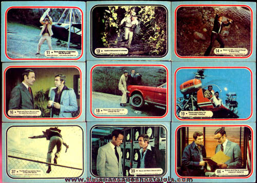 (54) �1975 Six Million Dollar Man Bubble Gum Trading Cards