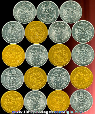 (19) Walt Disney Character Pirate Coins / Tokens