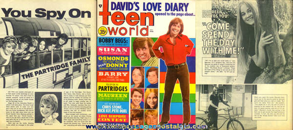 Teen World Magazine August 1971 Issue