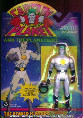 Unopened ©1991 Captain Planet Character Action Figure & Toy Ring