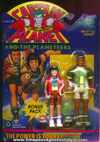Unopened ©1991 Captain Planet Character Action Figures & Toy Rings