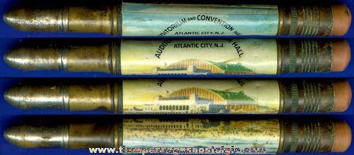 Old Atlantic City New Jersey Souvenir Bullet Pencil