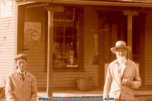 Old Grocery General Store Exterior Glass Photograph Negative