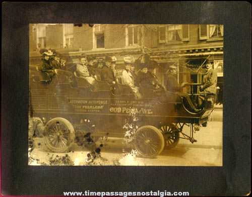 Old Mounted Peerless Observation Automobile (bus) Photograph