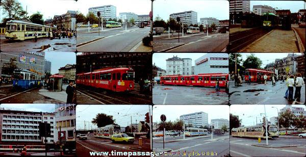 (12) Old Train / Street Car Photograph Slides