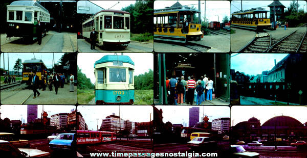 (12) Old Train / Street Car Photograph Slides