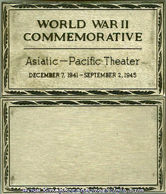 World War II Asiatic - Pacific Theater Colt Commemorative Metal Plate