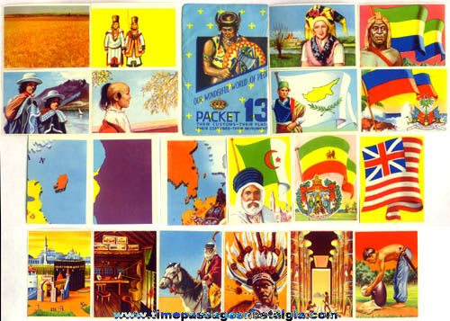 Old Packet Of (20) Colorful Unused World Cultural Stamps