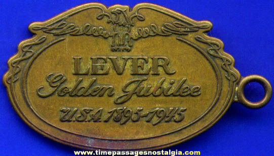 1945 Lever Brothers Golden Jubilee Key Chain Fob Charm