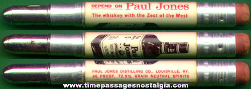 Old Paul Jones Whiskey Advertising Premium Bullet Pencil