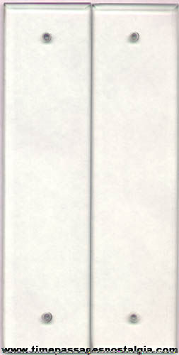 2) Old Beveled Glass Door Push Plates - TPNC