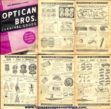 1942 Optican Brothers Carnival Goods & Novelties Catalog
