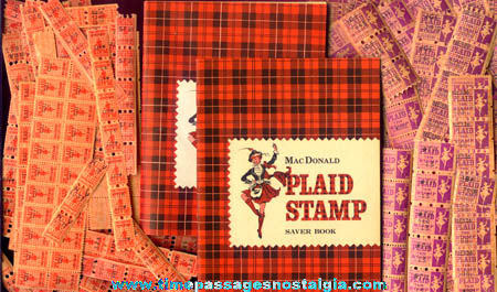 1966 Mcdonald Plaid Trading Stamp Premium Gift Catalog
