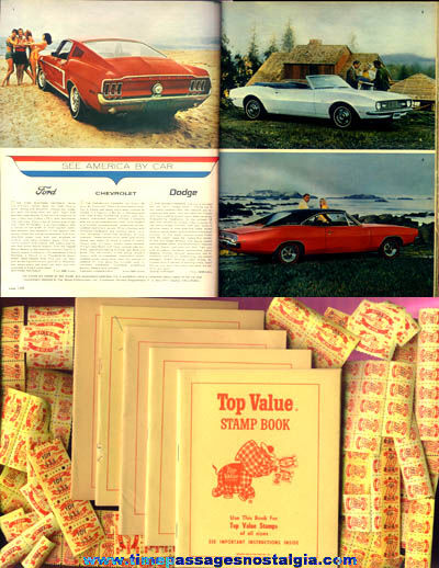 1968 Top Value Trading Stamp Premium Gift Catalog, Books, and Stamps