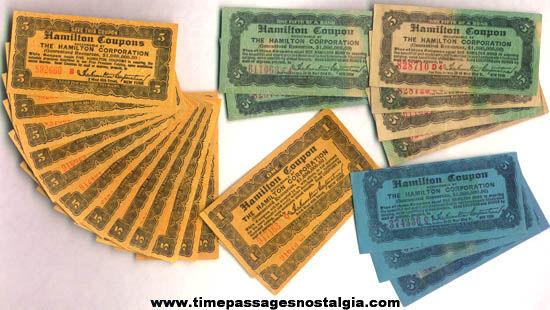 1910s Hamilton Profit Sharing Coupons & Advertising Flier