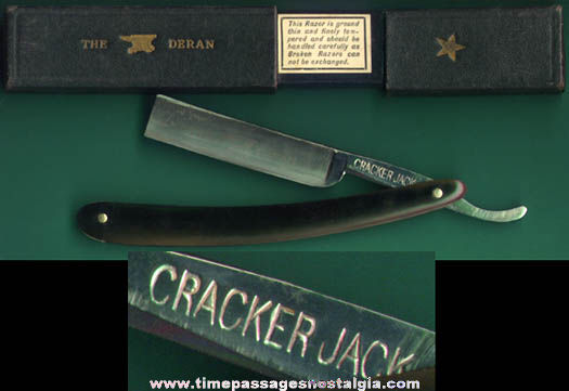 Old Boxed Southington Cutlery Cracker Jack Straight Edge Razor