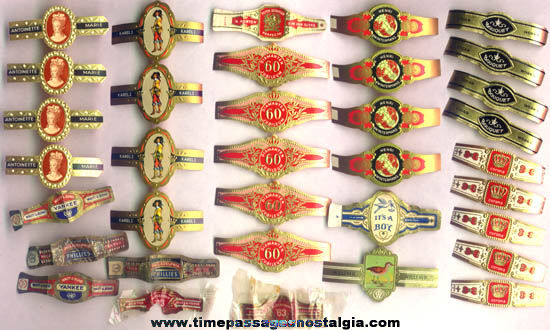 (35) Old Advertising Paper Cigar Bands