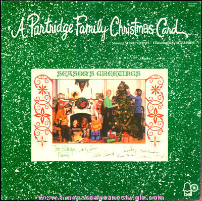 1970s Partridge Family Christmas Card Record Album With Card - TPNC