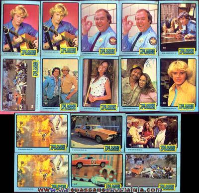 (16) ©1980 Dukes Of Hazzard Bubble Gum Trading Cards