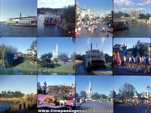 (33) 1974 Disneyland or Disney World Color Photograph Slides