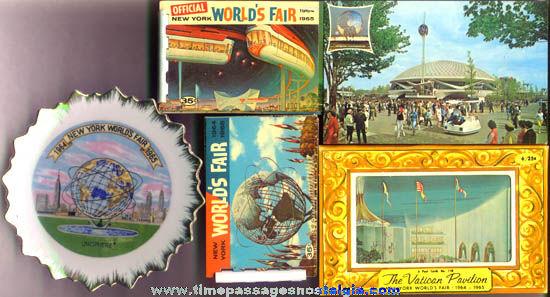 (5) Different 1964 - 1965 New York World's Fair Souvenir Items