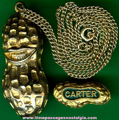 2 old u s president jimmy carter peanut jewelry items for Jimmy s fine jewelry