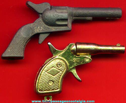 (2) Old Miniature Toy Cap Guns