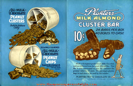 1921 Mr. Peanut / Planters Peanuts Candy Trade Magazine Two-Sided Advertisement