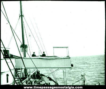 Early British White Star Line Ship Photograph Glass Slide
