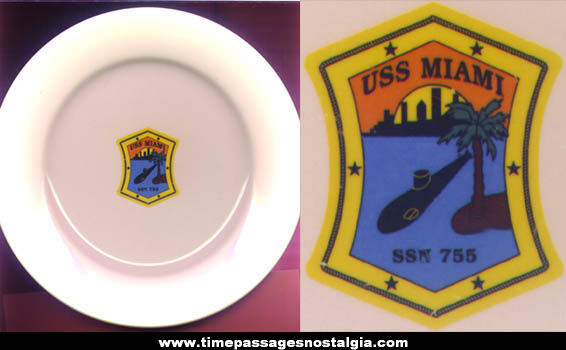 U.S.S. Miami SSN-755 Advertising China Dinner Plate