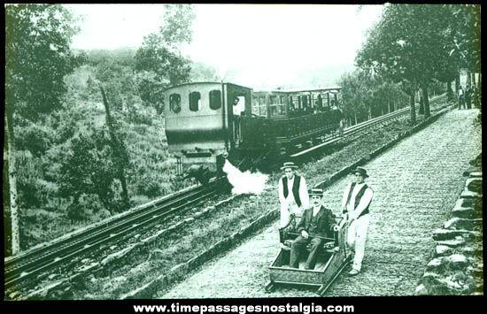 Early Cog Railway Photograph Glass Slide