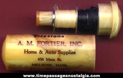 Old Firestone Advertising Premium Sewing Kit