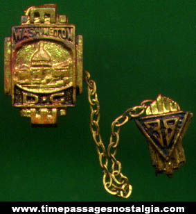 1938 Two Part Washington, D.C. Advertising Souvenir Pin