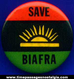 Old Save Biafra Nigeria Africa Pin Back Button