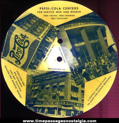 World War II Serviceman Pepsi Cola Advertising Record With Mailer