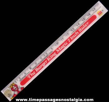 1980 Burger King Advertising Premium Flicker Ruler