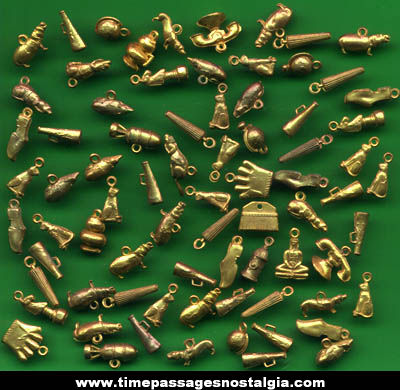 (76) Old Miniature Copper Coated Toy Charms