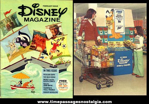 1976 Advertising Premium Issue Of Disney Magazine
