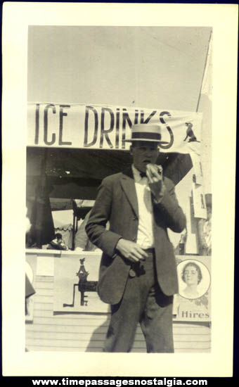 Old Hot Dog Stand With Hires Root Beer Sign Photograph