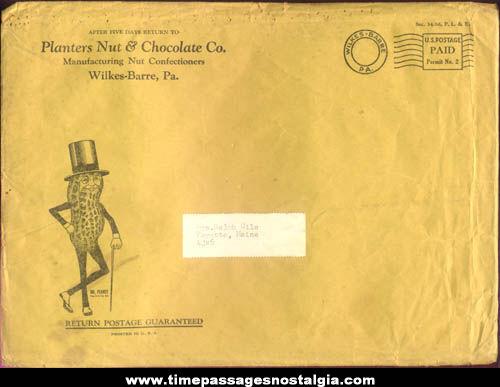 Colorful Unused ©1953 Mr Peanut Planters Peanuts Advertising Premium Presidents Paint Book With Mailer