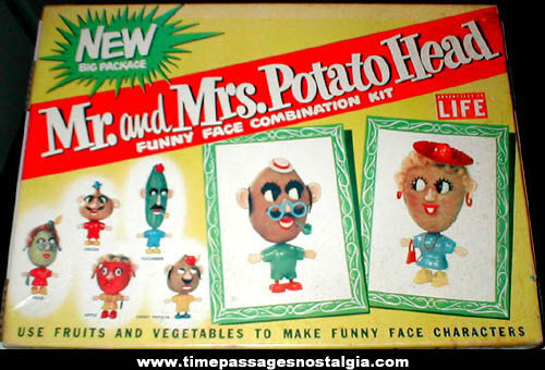 Old Boxed Mr. & Mrs. Potato Head Character Hasbro Set