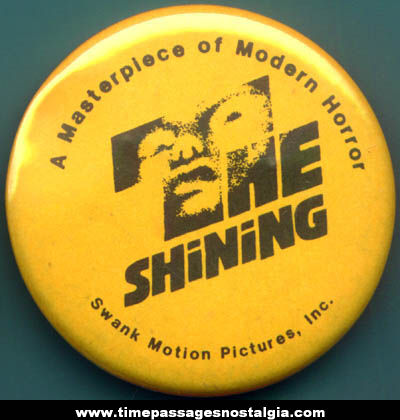 Old Movie Promotional Pin Back Button For The Shining