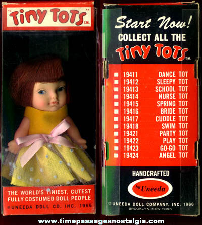 Boxed 1966 Uneeda Tiny Tots Doll