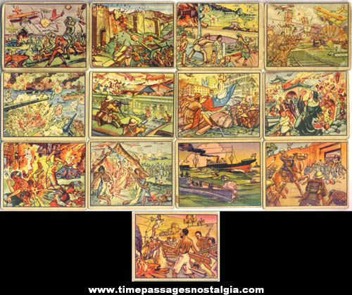 (13) 1938 Gum Inc. Horrors Of War Trading Cards