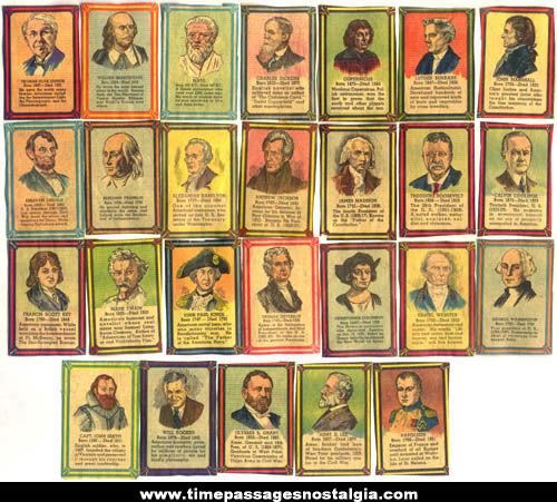 (26) Colorful Old Famous Men Newspaper Cut Out Trading Cards