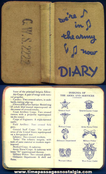 1941 U.S. Army ''We're In The Army Now'' Pocket Diary