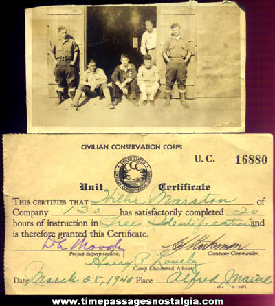 (2) Old Civilian Conservation Corps (CCC) Paper Items