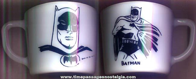 ©1966 Batman Character Glass Coffee Cup